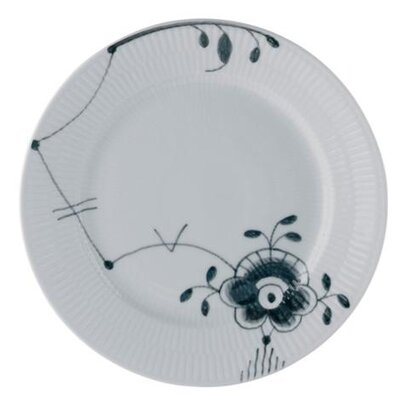 "Royal Copenhagen Black Fluted Mega 10.75"" Dinner Plate"