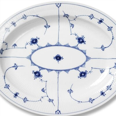 "Royal Copenhagen Blue Fluted Plain 14.25"" Oval Platter"