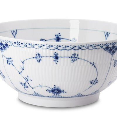 Royal Copenhagen Blue Fluted Half Lace Salad Bowl