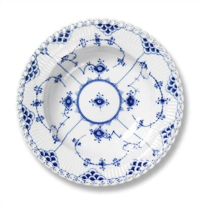 "Royal Copenhagen Blue Fluted Full Lace 9"" Accent Plate"