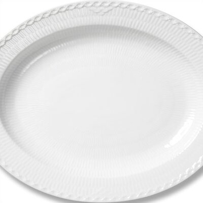 "Royal Copenhagen White Half Lace 14.5"" Oval Platter"