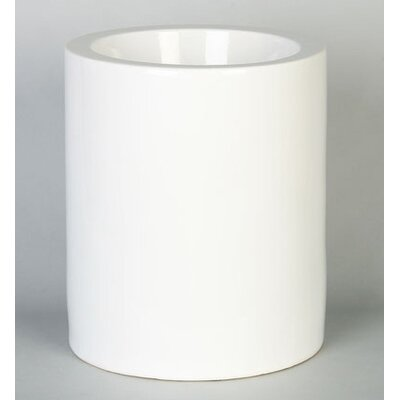 High Rise Pet Dish in High Gloss White