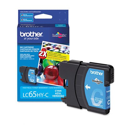 Brother Lc65Hyc (Lc-65Hyc) High-Yield Ink, 750 Page-Yield
