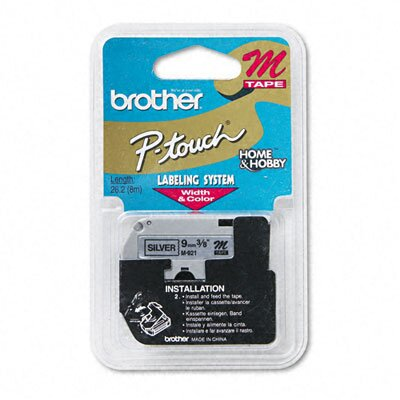 Brother P-Touch M Series Tape Cartridge for P-Touch Labelers, 3/8W