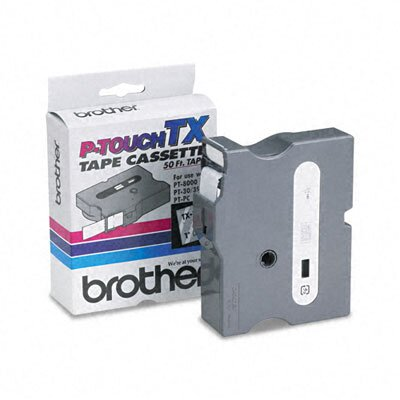 Brother P-Touch® TX TAPE CARTRIDGE FOR PT-8000, PT-PC, PT-30/35, 1W, WHITE ON CLEAR