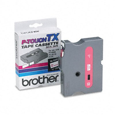 Brother P-Touch Tx Tape Cartridge for Pt-8000, Pt-Pc, Pt-30/35, 1/2W