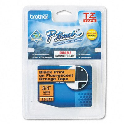Brother P-Touch Tz Standard Adhesive Laminated Labeling Tape, 3/4W