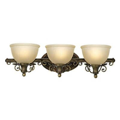 Pacific Coast Lighting First Lady Southern Dogwood 3 Light Bath Vanity Light
