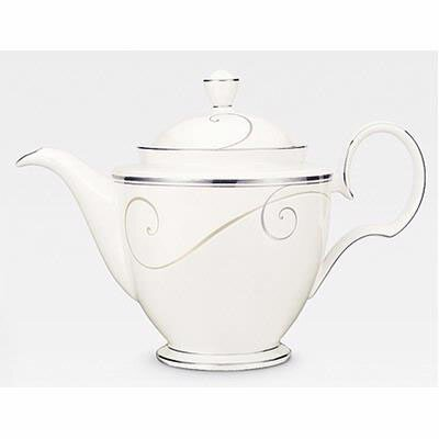 Noritake Platinum Wave Coffee Pot