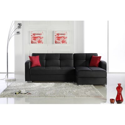Vision Sectional in Escudo Black