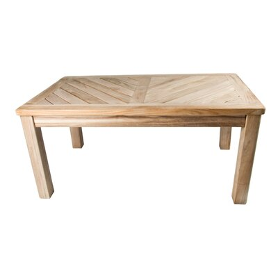 Arbora Teak Bristol Teak Coffee Table Features Solid Brass Hardware