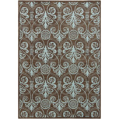 Chandra Gagan Abstract Brown Rug