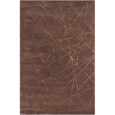 Chandra Harrow Brown Geometric Rug