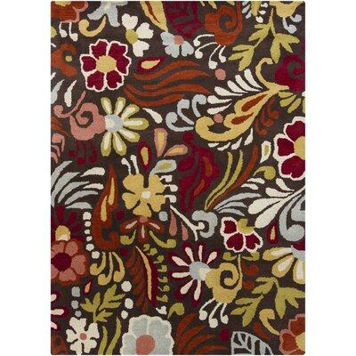 Chandra Rugs Gagan Brown Floral Rug