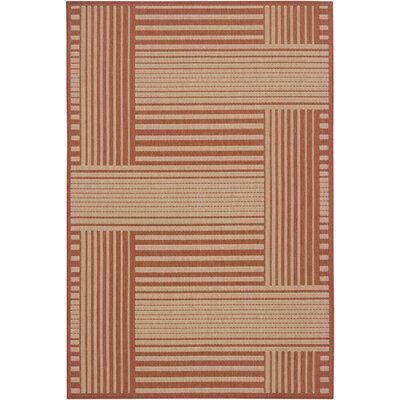 Chandra Rugs Ryan Red Geometric Indoor/Outdoor Rug