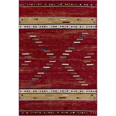 Chandra Rugs Taj Red Abstract Rug