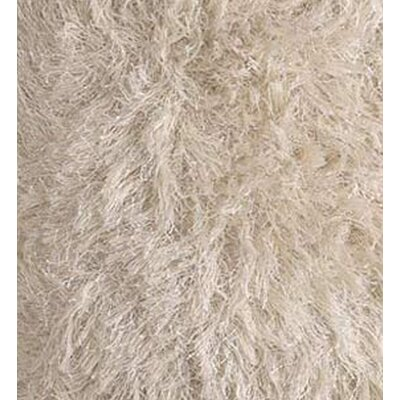 Chandra Rugs White Shag Floor Pillows