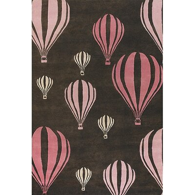 Chandra Rugs Kids Balloon Pink/Brown Kids Rug