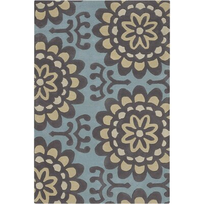 Chandra Amy Butler Blue Wallflower Rug