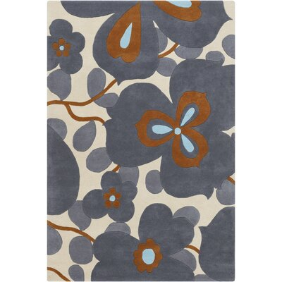 Chandra Amy Butler Morning Glory Blue Rug