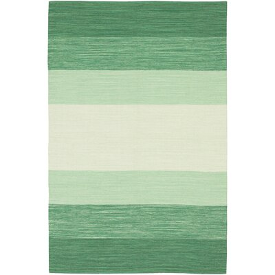 Chandra India Green Striped Rug