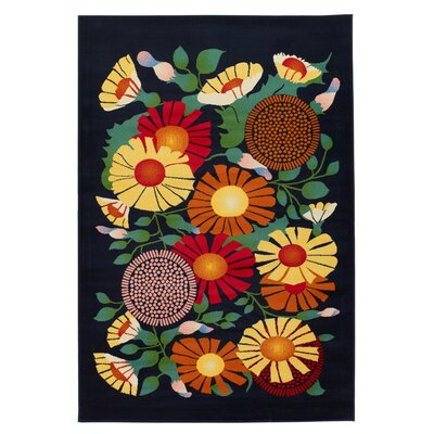 Chandra Rugs Dersh Flower Novelty Rug