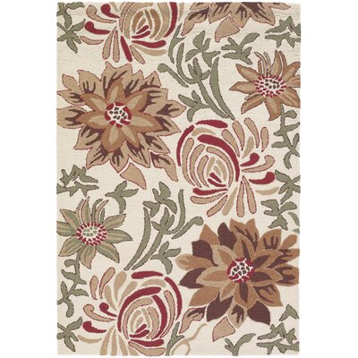 Chandra Rugs INT Ivory Flower Rug