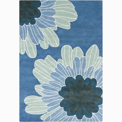 Chandra Rugs INT Blue Floral Rug