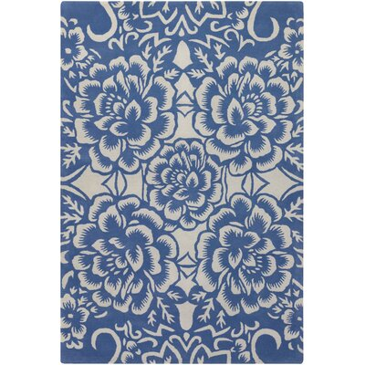 Chandra Contemporary Designer Blue Rug