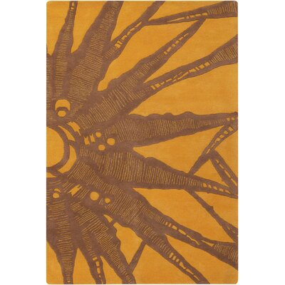 Chandra Contemporary Designer Brown Rug