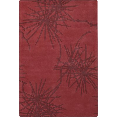 Contemporary Designer Crimson Rug