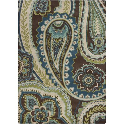 Chandra Rugs Gagan Dark Brown/Red Rug