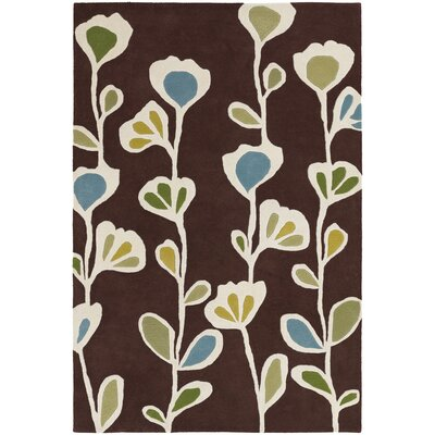 Chandra Rugs Inhabit Designer Brown Rug