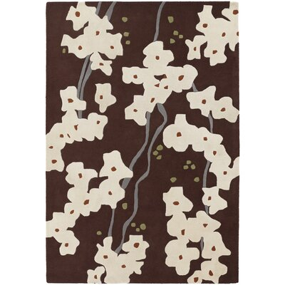 Chandra Rugs Inhabit Designer Dark Brown Rug