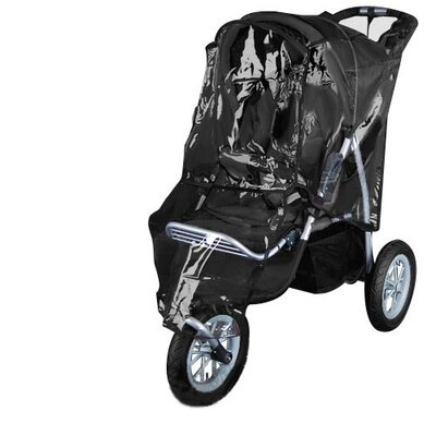 i.Life 3 Wheel Baby Stroller / Pram with Bonus Rain Cover and Foot Cover in Black