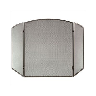 Onyx 3 Panel Steel Fireplace Screen