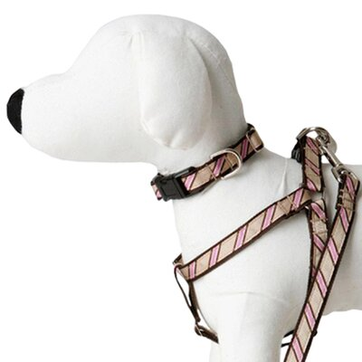 Lola and Foxy Varsity Stripe Dog Harness