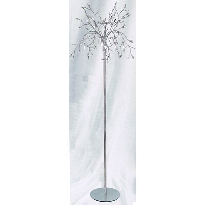 DV Lighting Floor Lamp with Dimmer Control - All Clear Crystal Leaf