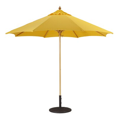 Galtech International 9' Commercial Wood Market Umbrella