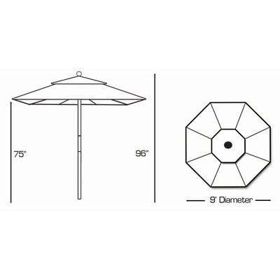 Galtech International 9' Market Umbrella