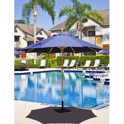 Galtech 9' Commercial Wood Market Umbrella