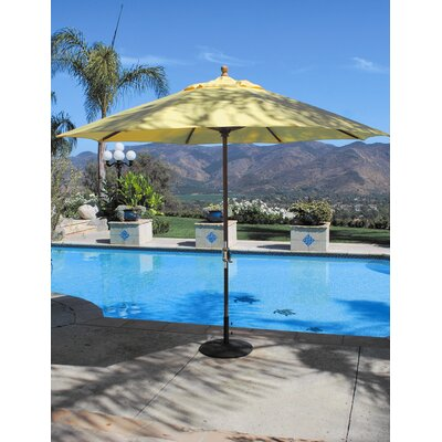 Galtech International 11' Classic Teak Market Umbrella