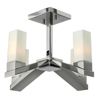 Fredrick Ramond Omni 4 Light Semi Foyer Pendant