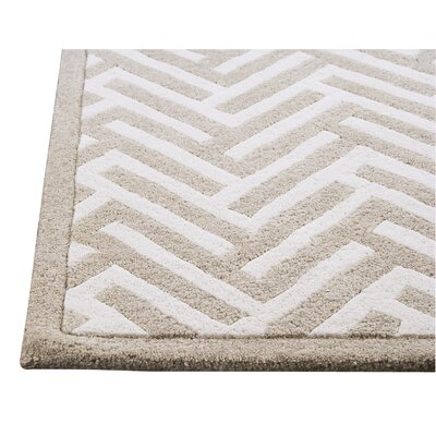Hokku Designs Tracks White Rug