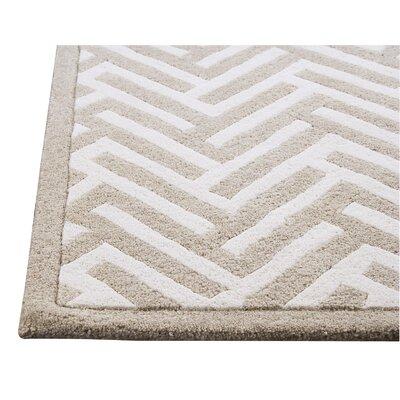 Hokku Designs Tracks White Rug