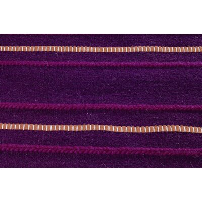 Hokku Designs Savannah Purple Striped Rug