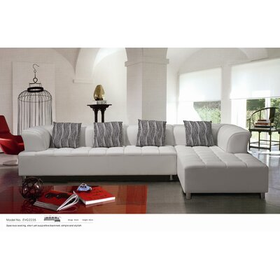 Hokku Designs Litz Leather Sectional