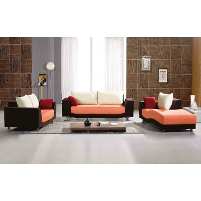 Hokku Designs Morganite Leatherette Chaise Lounge