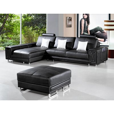 Hokku Designs Martini Leather Sectional