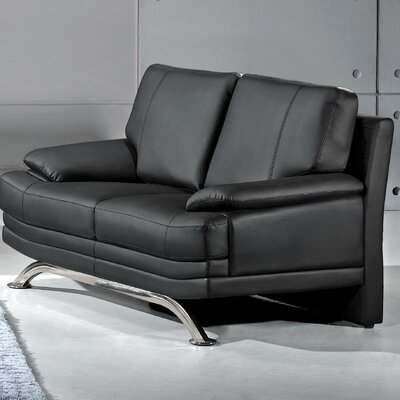 Hokku Designs Phoenix Leather Loveseat